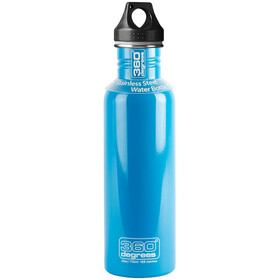 360° degrees Stainless Bidon 750ml, sky blue